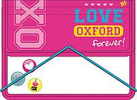 """Папка для тетрадей пластиковая на резинке В5 """"Oxford"""" розовый 491116"""