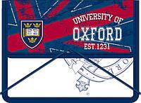 """Папка для тетрадей пластиковая на резинке В5 """"Oxford"""" синий 491118"""