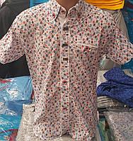 Стильная рубашка(шведка) для мальчика 6-14 лет(опт) (белая16цв) (пр. Турция)