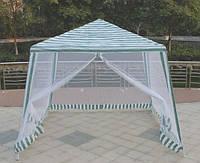 Садовый павильон-шатер с москитной сеткой и молниями S3301-2.4 (3x3 м)