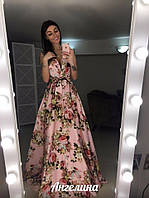 Шикарное платье в пол, очень красивое, держит форму