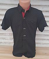 Стильна сорочка(шведка) для хлопчика віком 6-14 років(опт) (черная16) (пр. Туреччина)
