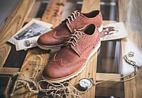 Мужские коричневык кожаные туфли Shamrock - Brogues, Brown