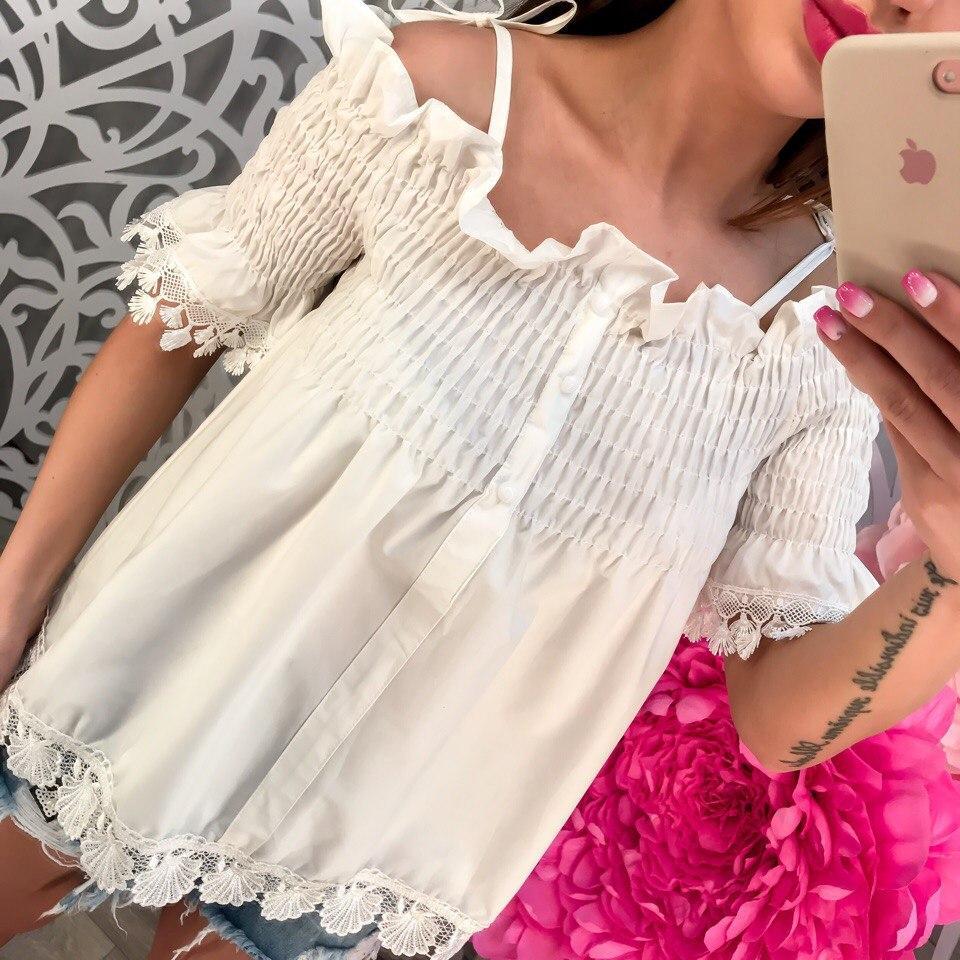 Стильная котоновая блузка