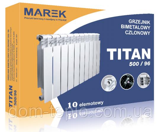 Биметаллический радиатор Titan Marek 500/96 секционный