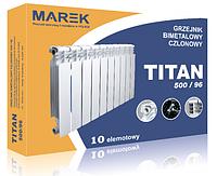 Биметаллический секционный радиатор(батарея) TITAN MAREK(Титан) 500х96