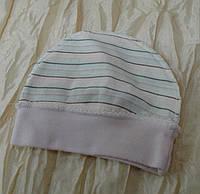 Тонкая трикотажная хлопковая шапочка с наружными швами