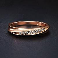 Кольцо Анель покрытие золотом 18К проба