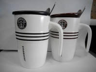 Чашка заварочная Starbucks H-212 с ложкой в комплекте