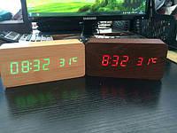 Часы светодиодные настольные 1292 (красная подсветка)