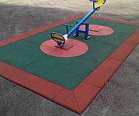 Резиновое покрытие для детской площадки 30 мм