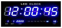 Часы электронные настенные большие синие 4600-4/BLUE