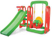 Детская игровая площадка 3 в 1 / горка + качель + баскетбол