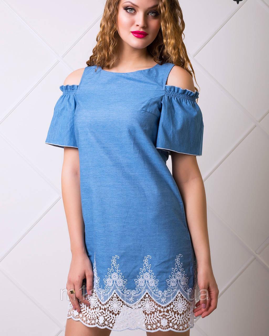 58516896f88 Женское джинсовое платье с кружевом (Ждана lzn ) купить недорого ...