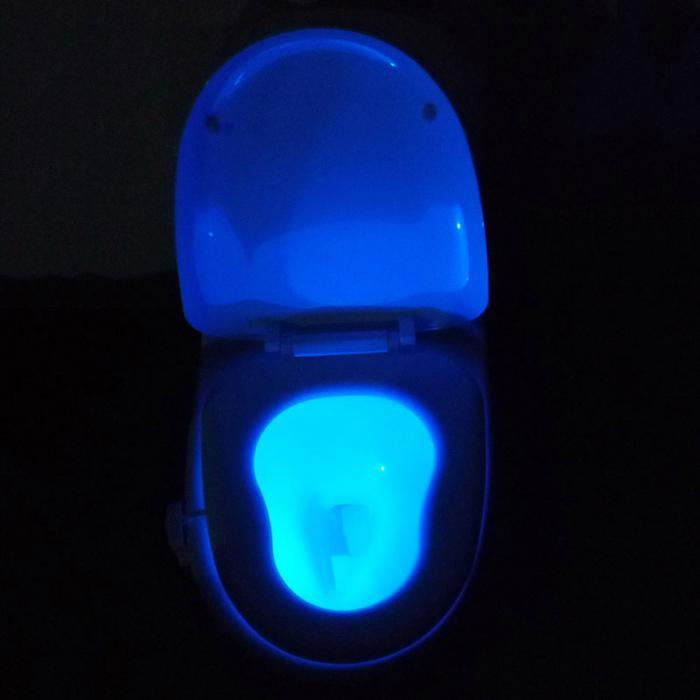 Подсветка для унитаза LED с датчиком движения!