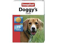 Витамины Beaphar Доггис Ливер, с печенью, для взрослых собак, 75 таб