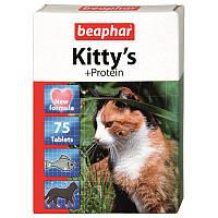 Витамины Beaphar Киттис Протеин для кошек, 75 таб