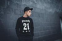 Свитшот мужской черный Punch - NeoGothic, Spring, Black