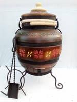 Тандыр модель №4 (дизайн украинский-коричневый), фото 1