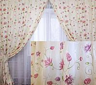 Комплект штор с рисунком для спальни на пром.юа
