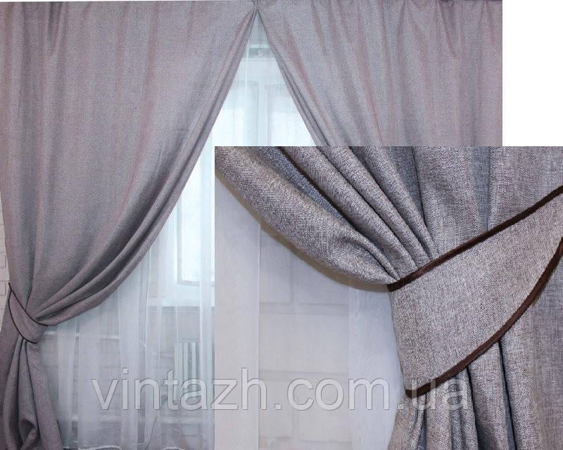 Готовые шторы в комплекте с подхватами