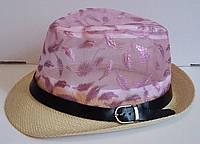 Прозрачная детская шляпа с соломенными полями