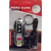 Акумуляторная зажигалка брелок USB Porsche RR1