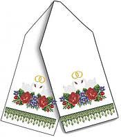 Заготовка для вишивки бісером рушника (0.45x2 м), габардин/домоткане