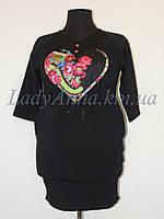 Туника-платье женская с вышивкой