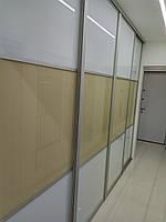 """Встроенный шкаф с стеклом """"Лакобель"""""""