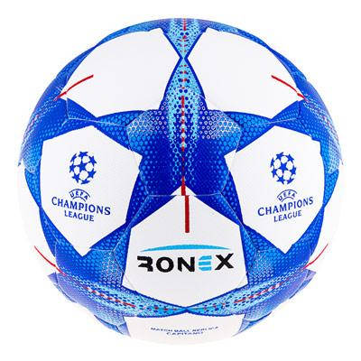 Мяч футбольный гибрид Ronex FN синий RHB, фото 2