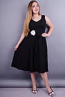 Лилия. Нарядное платье больших размеров. Черный.