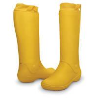 Сапоги Crocs Women's RainFloe Boot / женские резиновые высокие мягкие дождевики с манжетом 38, Желтый