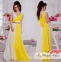 Вечернее платье с атласным поясом