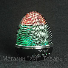 Портативная колонка WS-1802 Multimedia Speaker LED, Bluetooth, Колонка Bluetooth, мини динамик!Опт, фото 3