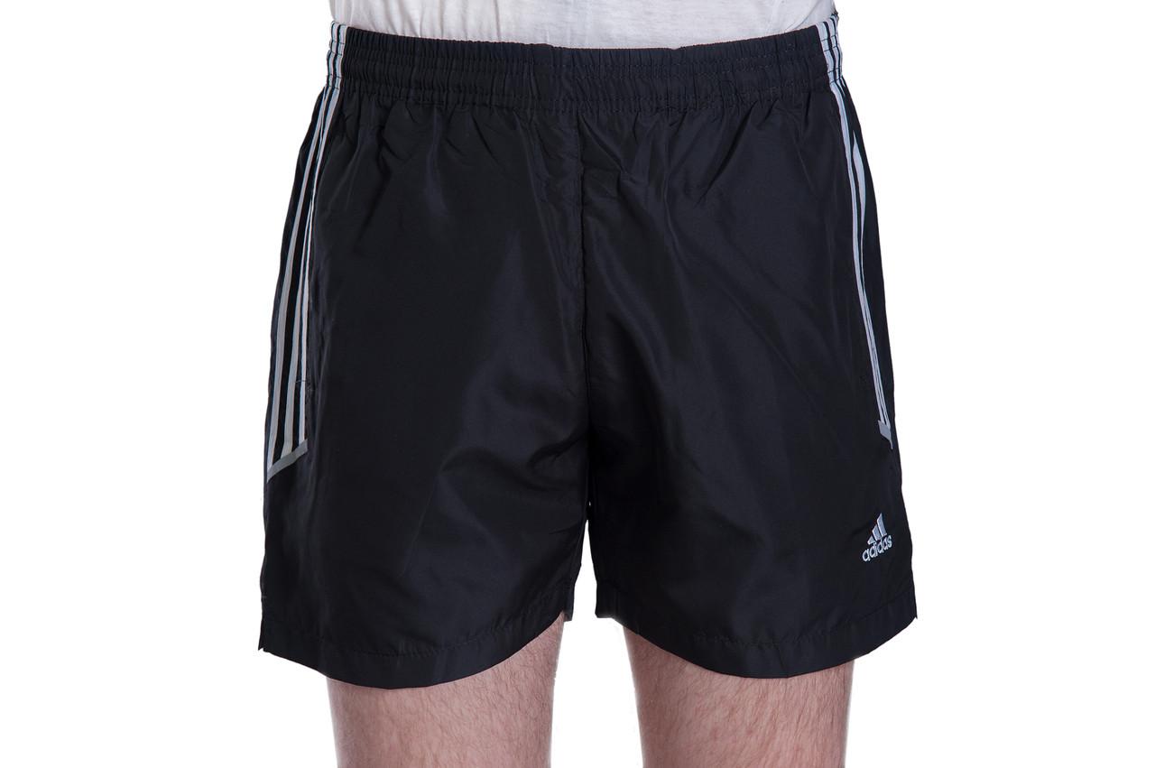 Чоловічі шорти Adidas (плащівка), чорного кольору
