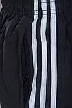 Чоловічі шорти Adidas (плащівка), чорного кольору, фото 4