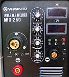 Зварювальний інверторний напівавтомат W-Master MIG-250 (380V), фото 2
