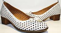 Летние туфли женские Rifellini Rovigo кожаные, каблук 4 см кремовые от магазина tehnolyuks.prom.ua 099-4196944