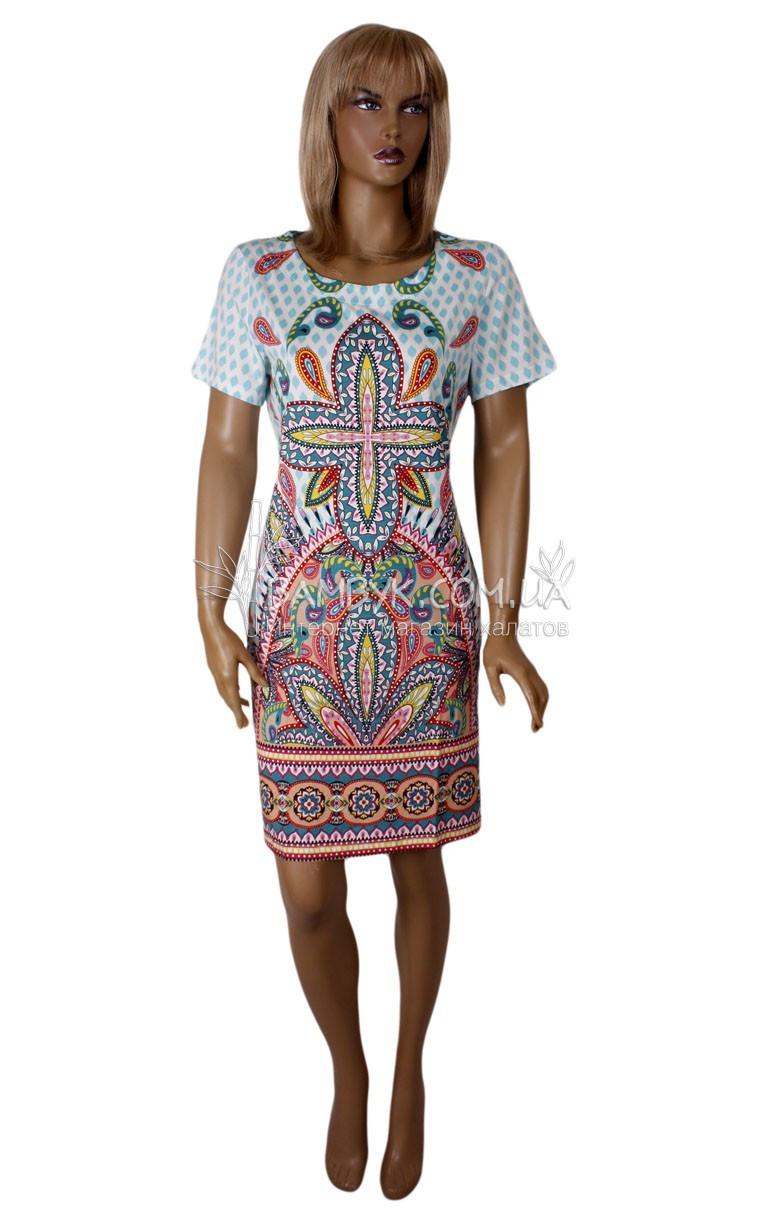 Летнее цветное платье Birlik №2579