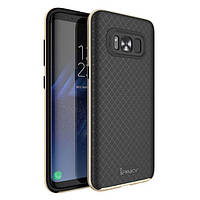 Чехол iPaky TPU+PC для Samsung G955 Galaxy S8 Plus Черный / Золотой