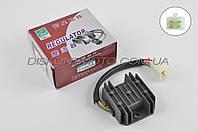 Реле регулятор зарядки 4T китайский скутер 4T GY6 125/150 (152QMI / 157QMJ) (4 провода) (A-class) JI
