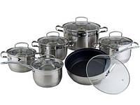 Набор кухонной посуды Kamille Fine Silver Pen 12 предметов