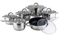 Набор кухонной посуды Kamille Classic 4 кастрюли, ковш и сковорода с крышками