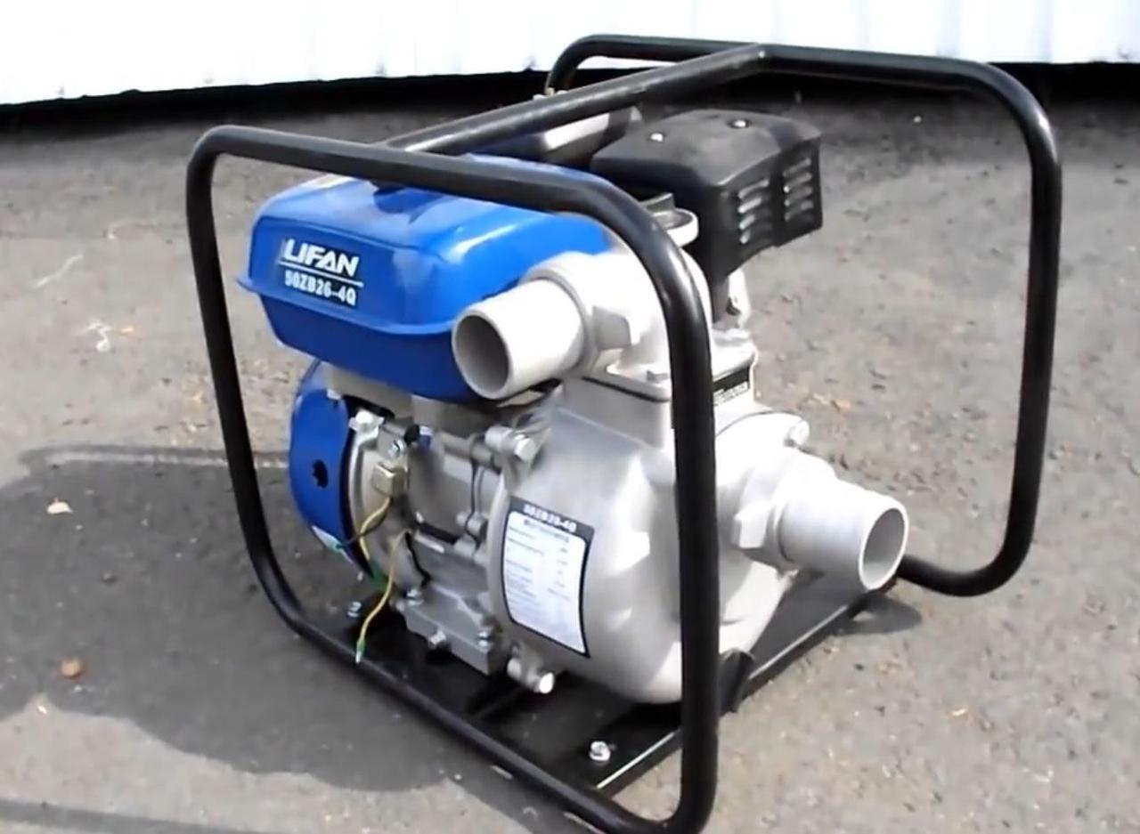 Бензо-газовая мотопомпа Lifan 50ZB26-4Q-BF