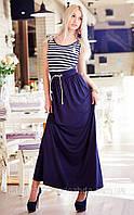 """Летнее длинное женское платье """"Морячка Макси"""" в расцветках, фото 1"""