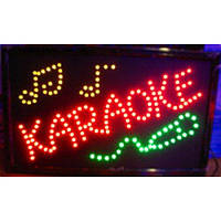 """Светодиодная вывеска """"Karaoke"""" 55*33см"""