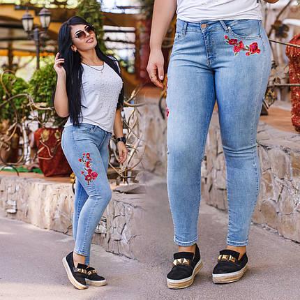 40cecb86c9f56 ДТ4630 Стильные облегающие джинсы с вышивкой батал : продажа, цена в ...