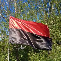 Атласный флаг красно-черный, УПА 90*140см