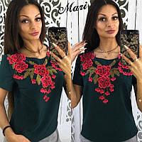 Блузка женская летняя с вышивкой разные цвета 2Rmil115